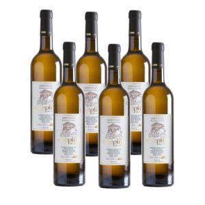 Pack de 6 botellas de vino godello O Pepiño para que compartas con toda tu familia