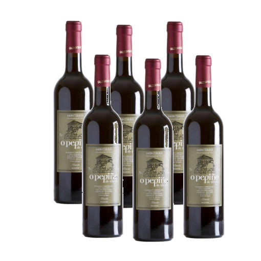 Pack de 6 botellas de vino mencía O Pepiño para que compartas con toda tu familia