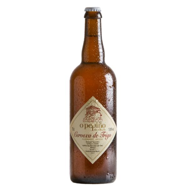 Botella de cerveza artesana O Pepiño de 75cl de gloria