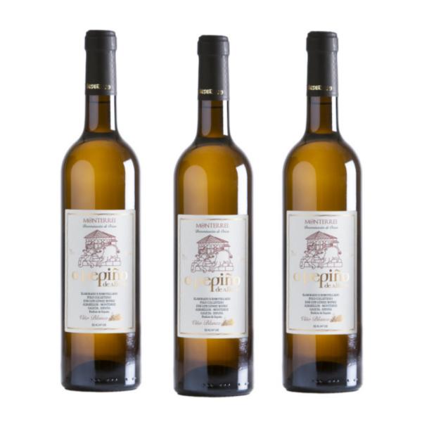 Compra online el pack de 3 botellas vino godello O Pepiño
