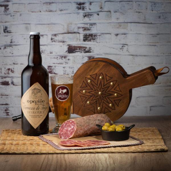 Salchichón cular O Pepiño y cerveza artesanal O Pepiño con venta a Península Ibérica