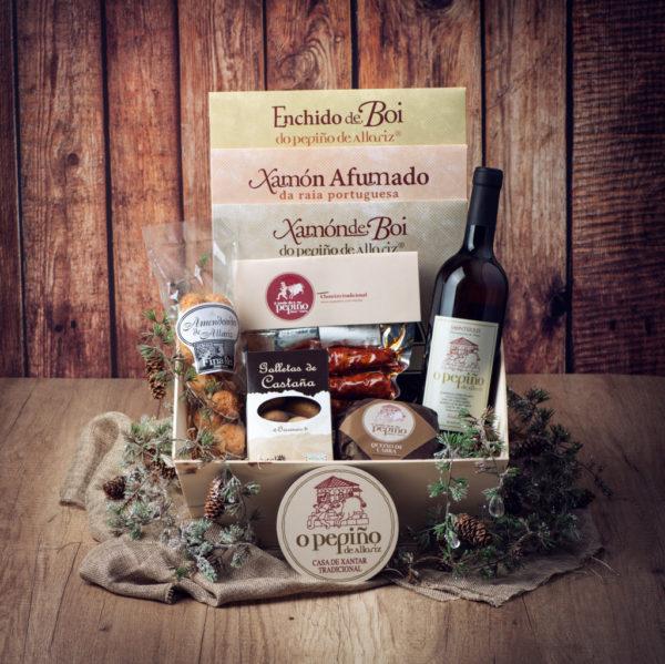 Cesta da navidad de productos gallegos