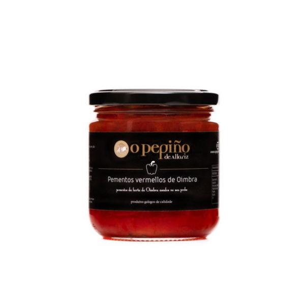 Bote de pimientos rojos de Oímbra asados en su jugo de O Pepiño
