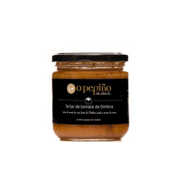 Tártaro de tomate Oimbra em pote com aroma de alecrim de O Pepiño