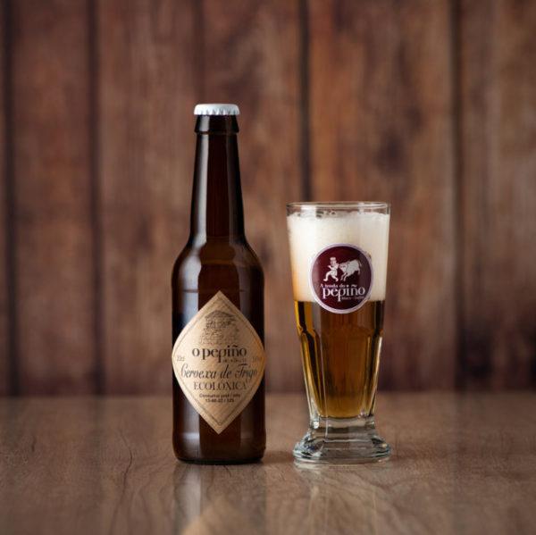 Cerveja artesanal O Pepiño 33 cl em copo personalizado com envio para toda a Península Ibérica