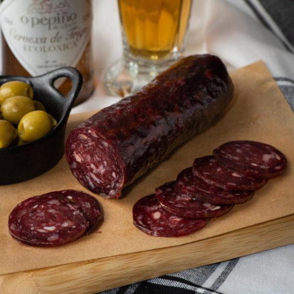 Embutido de buey O Pepiño bodegón al detalle, de lo mejor de Galicia