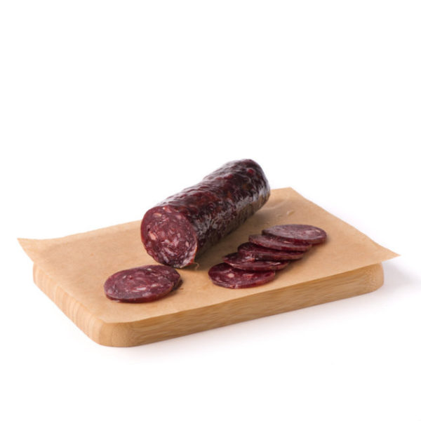 Embutido de buey O Pepiño en tabla, el mejor embutido gallego de gran calidad