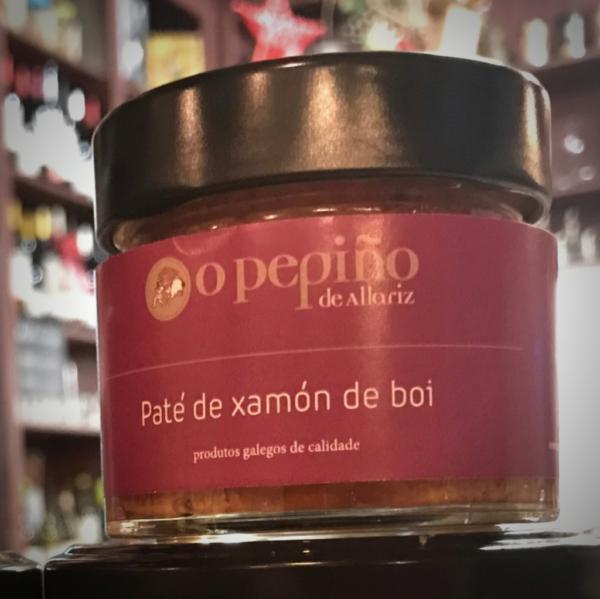 Cremoso paté de jamón de buey de O Pepiño. Compra online 2 botes de 106g.
