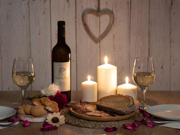 Bodegón de amor pack Dillo con Pepiño con buey, godello, almendrados Allariz y galletas